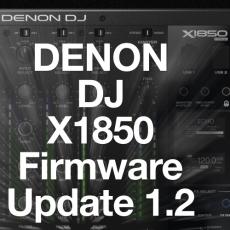 Denon DJ X1850 Club Mixer com novo Firmware 1.02