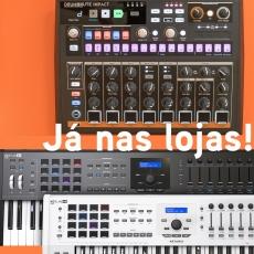 DrumBrute Impact e Keylab MK2 61 (Negro) já nas Lojas!
